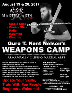 Weapons Camp 2017 Flier