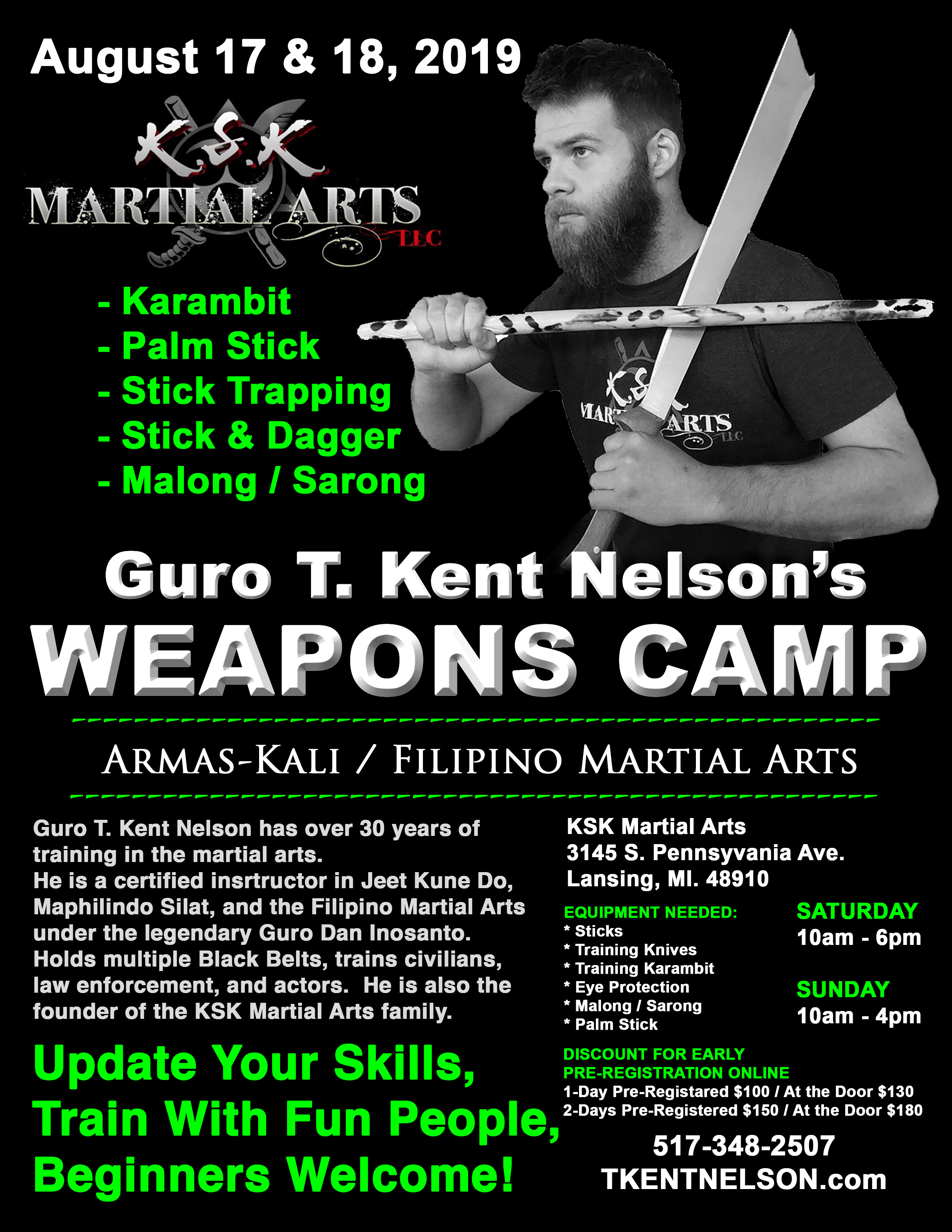 Guro T  Kent Nelson: Weapons Camp 2019 | K S K  Martial Arts